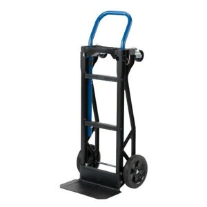 Hand Truck Moving Dolly 2 n 1 Convertible 4 Wheel Platform Vendor Cart 400 Lb