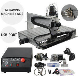 6040 4 Axis 1500w Engraving Cnc Router Engraver Carving Milling Drilling Machine