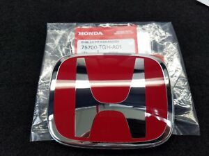 Genuine Oem Honda Civic Type R Front Red Emblem For Sedan Coupe Hatch 2016 2018