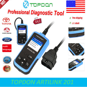 Topdon Al201 Obd2 Car Auto Diagnostic Tool Scan Code Reader Scan For Ford Holden