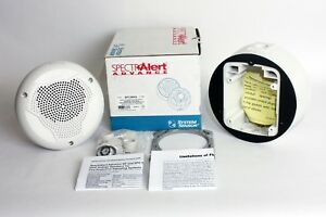 System Sensor Spcwka Spectralert Advance White Outdoor Ceiling Mount Speaker