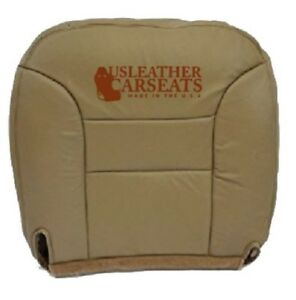 1995 1999 Chevy Suburban Tahoe Driver Bottom Synthetic Leather Seat Cover Tan