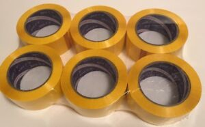 Yellow Acrylic Packing Tape 2 0 Mil 2 X 330 48 Mm X 110 Yards 6 Rolls
