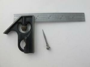 Starrett Cb6 4r Grad 6 Hardened Scale Blade H11 4 Combination Square Head Set