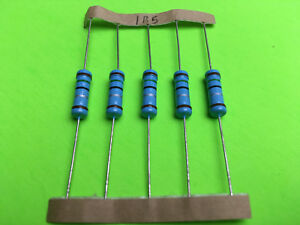 2w 2 Watt 1 Tolerance Metal Film Resistor 5 Pieces You Pick Value