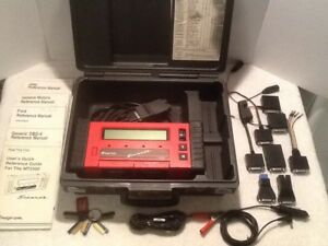 Snap On Mt2500 Super Deluxe Diagnostic Scanner W Cartridges Keys Manual
