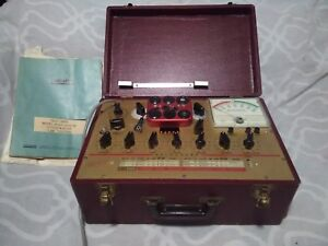 Hickok Model 6000 Tube Tester Powers On Untested As is Parts Restoration
