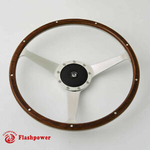 16 Classic Riveted Wood Steering Wheel Restoratio Triumph Jaguar Marine Boat