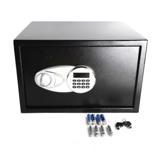 Double Home Office Electronic Digital Combination Keypad Lock Cash Wall Safe Box