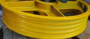 Lot 3 Elevator Diverter Pulley Yellow Differents Sizes