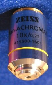 Zeiss Microscope Objective Plan Achromat 10x 0 25 Infinity Corrected