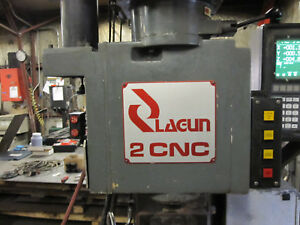 4 Hp Lagun 3 axis Cnc Vertical Knee Mill Anilam Crusader 2 Control 10 x50 Table