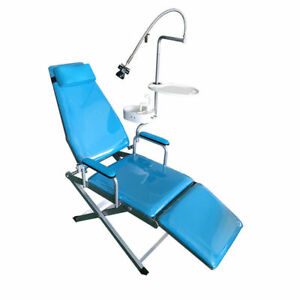 Dental Portable Chair Unit water Supply Flushing System Cuspidor Tray led Light