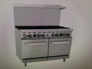New Heavy 48 Range 8 Burner With 2 Space Saver Ovens Range Stove Natural Gas