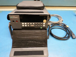 Fluke 2635a Data Bucket Acquisition System W input Module Carrying Case Cables