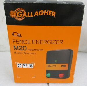 Gallagher M20 Fence Charger Energier Yardmaster 8 Acres 3 Hectares 0 2 Joules