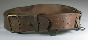 Vintage Brown Leather Police Security Duty Belt