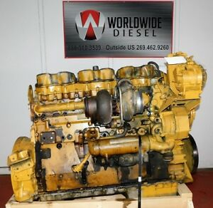 1997 Cat 3406e Diesel Engine 410 Hp Good For Rebuild Only