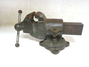 Monster Antique Vintage 1906 Parker No 449 Rotating Vise 87 Pounds 4 Jaw