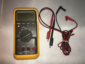 Fluke 87 True Rms Multimeter With Leads And Free Shipping