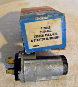 Nos 1969 Chrysler Dodge Plymouth Super Bee Road Runner Charger Ignition Switch