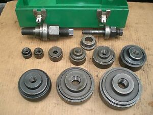 Greenlee 735bb Ball Bearing Knockout Punch Set 3 4 Through 4 Punches