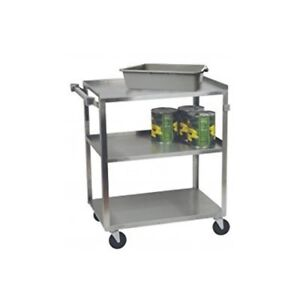 Focus Foodservice 90312 Stainless Steel Utility Cart 3 Shelves 15 1 2 X 24