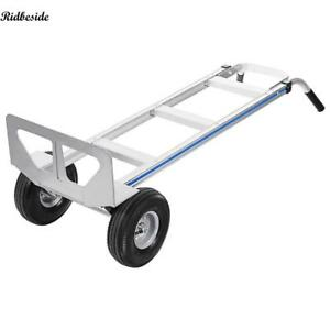 500lbs Aluminum Hand Truck Dolly Moving Cart Boxes Heavy Duty 2 wheel Quality