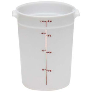 Cambro rfs8pp190 8 Qt Round Polypropylene Food Storage Container