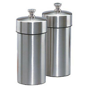 Chef Specialties Futura Brushed Stainless Pepper And Salt Mill Set 4 1 Each