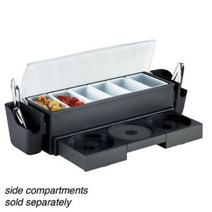 Value Series 574875 All in one Bar Caddy With Glass Rimmers condiment Holders