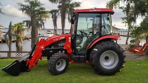 New 45 Hp 4x4 Cabin Tractor And Loader