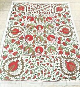 Vintage Uzbek Beautiful Handmade Wall Decor Quilt Bedding Embroidery Suzani