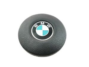 Bmw E30 3 Series Steering Wheel Round Center Horn Emblem Logo Button Oem 82 94