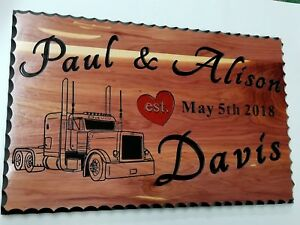 Personalized Custom Carved Cedar Rustic Wood Sign 16 Wide By 24 Long 1 Thick