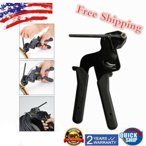 Cable Tie Gun Fastening Tool Adjustable Pressure To Fasten And Cut Cables Usa