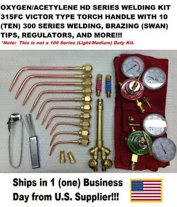 Victor Type Heavy Duty 315fc Type Oxy acetylene Welding Torch Kit W regulators