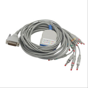 Ekg Cable With Integrated 10 Leadwires For Schiller At3 Iec Banana 4 0