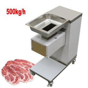 Meat Cutting Machine meat Cutter Slicer 500kg hour Output With 3mm Blade Fda