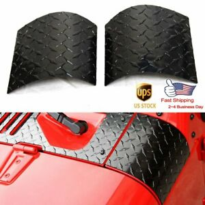 1 Pair Black Cowl Body Armor Outer Cowling Cover For Jeep Wrangler Jk 2007 2018