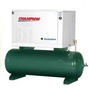 New 2 Stage Elec air Compressor Her10 12 10 Hp 120 Gal 208v 3ph