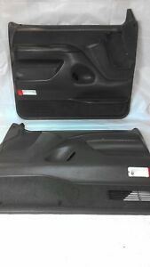 1992 1993 F150 F250 F350 Bronco Grey Door Panel Set Xlt Power Driver Passenger