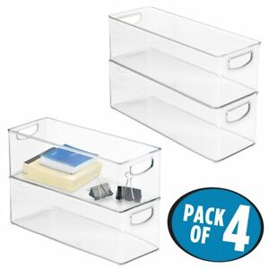 Mdesign Office Organizer Bins For Supplies Pens Pencils Staplers Note Pads