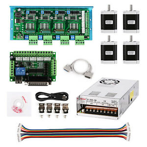 Cnc Tb6600 4 axis Stepper Motor Driver Board usb parallel Interface Board power