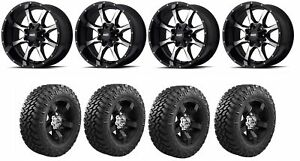Set Of 4 Nitto 205 910 Tires Moto Metal Mo97029067300 Gloss Black Wheels