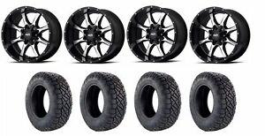 Set Of 4 Nitto 217 060 Tires Moto Metal Mo97021080324n Gloss Black Wheels