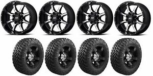 Set Of 4 Nitto 374 000 Tires Moto Metal Mo97021067324n Gloss Black Wheels