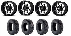 Set Of 4 Nitto 217 040 Tires Moto Metal Mo97021086324n Gloss Black Wheels