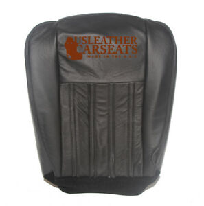 2004 Ford F250 Harley Davidson Passenger Side Bottom Leather Seat Cover Black
