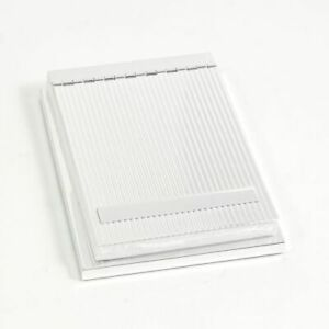 Silver Plated 4 x6 Memo Pad Holder With Lined Cover